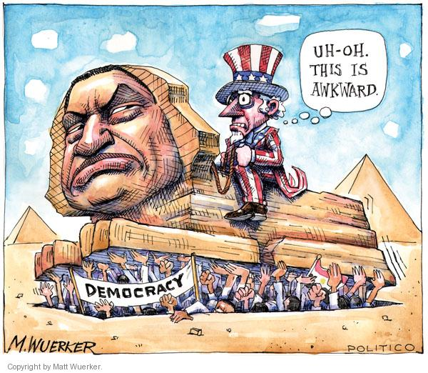 Cartoonist Matt Wuerker  Matt Wuerker's Editorial Cartoons 2011-01-31 Egypt