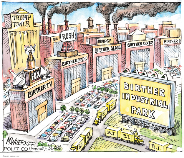 Matt Wuerker  Matt Wuerker's Editorial Cartoons 2011-04-22 Donald Trump Fox News
