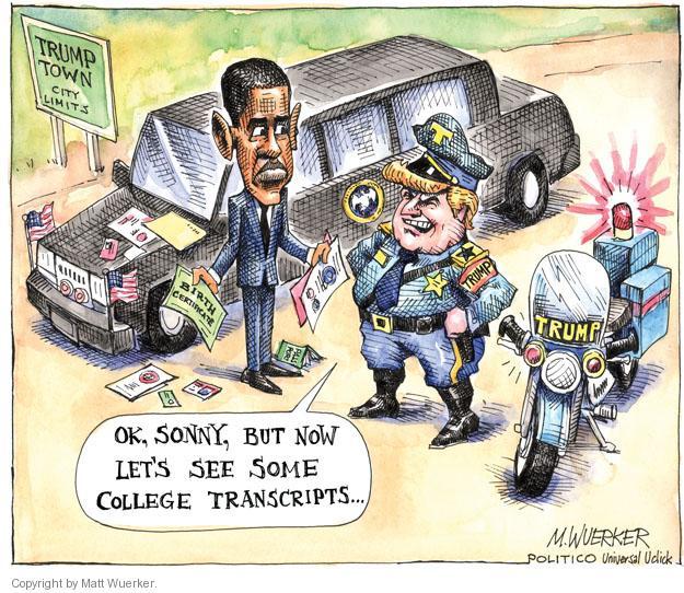 Cartoonist Matt Wuerker  Matt Wuerker's Editorial Cartoons 2011-04-29 president