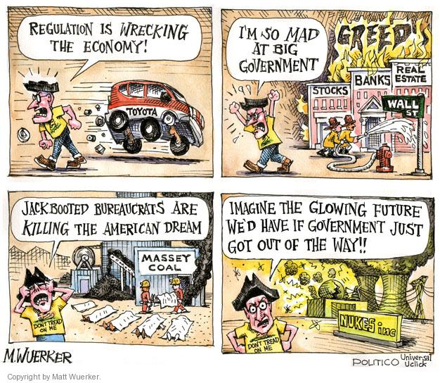 Matt Wuerker  Matt Wuerker's Editorial Cartoons 2011-05-12 government regulation