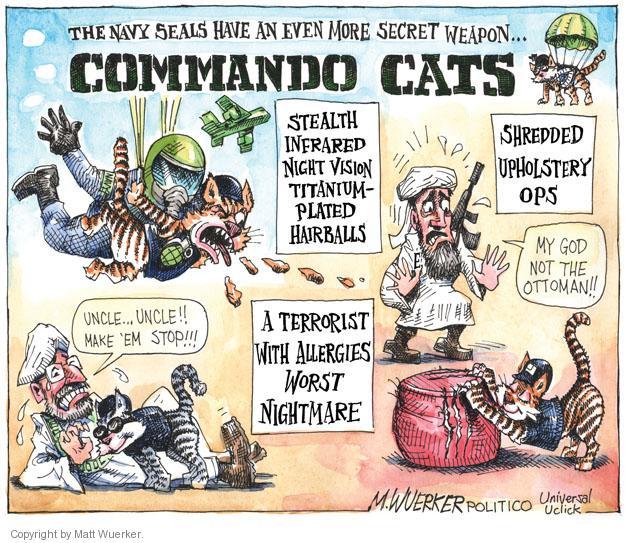 Cartoonist Matt Wuerker  Matt Wuerker's Editorial Cartoons 2011-05-16 navy seal