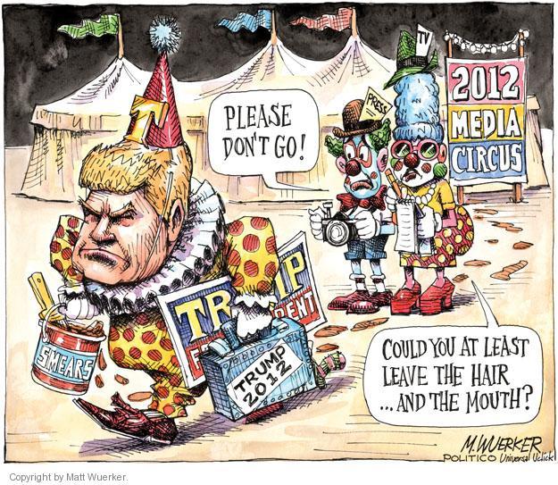 Matt Wuerker  Matt Wuerker's Editorial Cartoons 2011-05-18 Donald Trump hair