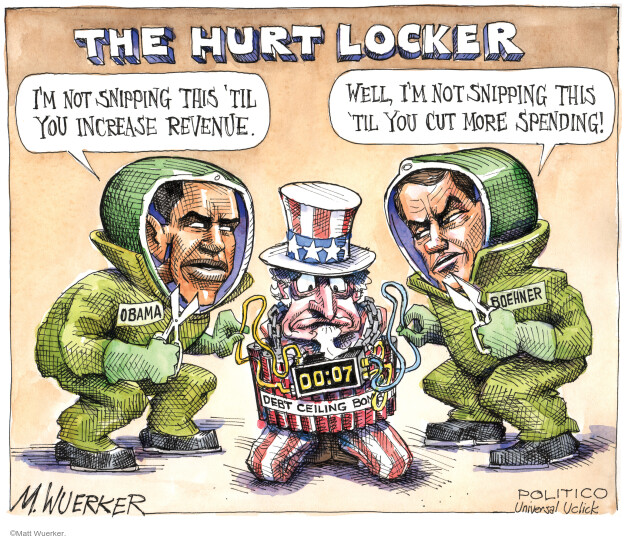 Cartoonist Matt Wuerker  Matt Wuerker's Editorial Cartoons 2011-07-20 federal budget