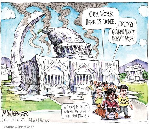 Cartoonist Matt Wuerker  Matt Wuerker's Editorial Cartoons 2011-08-05 debt ceiling