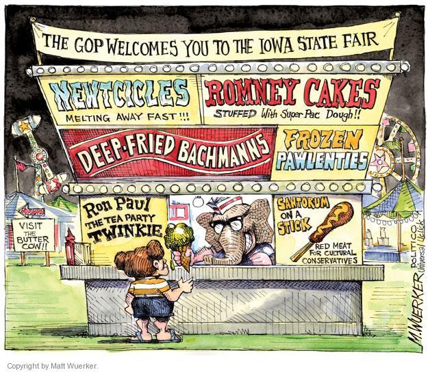 Matt Wuerker  Matt Wuerker's Editorial Cartoons 2011-08-12 Iowa election