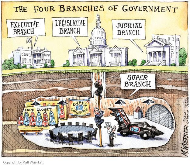 Cartoonist Matt Wuerker  Matt Wuerker's Editorial Cartoons 2011-08-17 executive branch