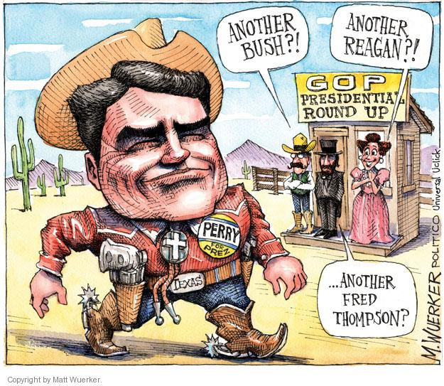Cartoonist Matt Wuerker  Matt Wuerker's Editorial Cartoons 2011-08-19 Texas