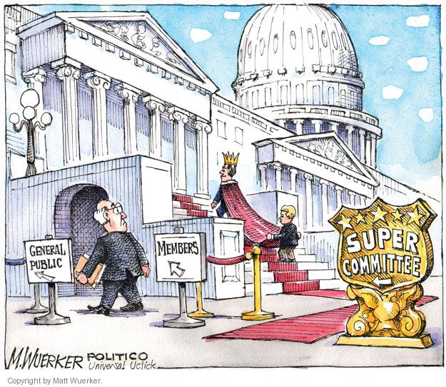 Cartoonist Matt Wuerker  Matt Wuerker's Editorial Cartoons 2011-09-13 spending cut