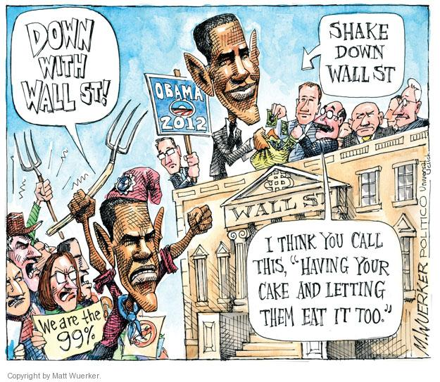 Cartoonist Matt Wuerker  Matt Wuerker's Editorial Cartoons 2011-10-31 president