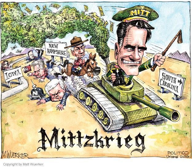 Cartoonist Matt Wuerker  Matt Wuerker's Editorial Cartoons 2012-01-12 tank