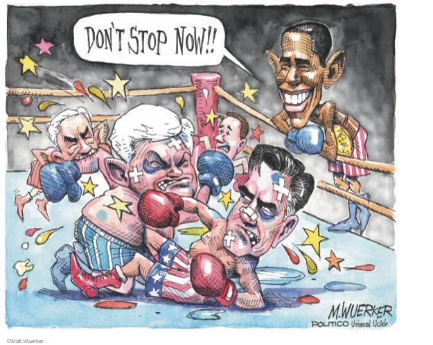 Cartoonist Matt Wuerker  Matt Wuerker's Editorial Cartoons 2012-02-01 president
