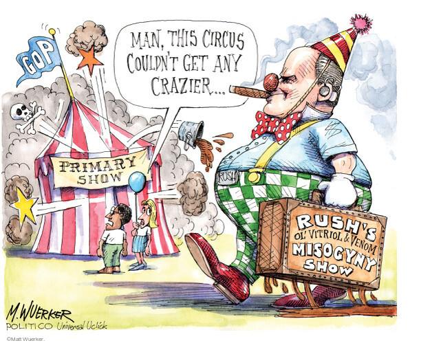 Cartoonist Matt Wuerker  Matt Wuerker's Editorial Cartoons 2012-03-05 misogynist