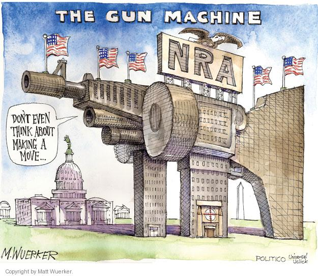 Cartoonist Matt Wuerker  Matt Wuerker's Editorial Cartoons 2012-07-30 NRA