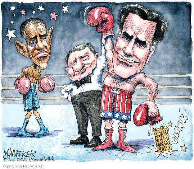 Matt Wuerker  Matt Wuerker's Editorial Cartoons 2012-10-07 boxing