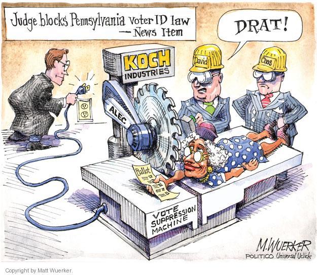 Matt Wuerker  Matt Wuerker's Editorial Cartoons 2012-10-09 voter ID law