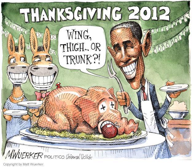 Matt Wuerker  Matt Wuerker's Editorial Cartoons 2012-11-22 political party
