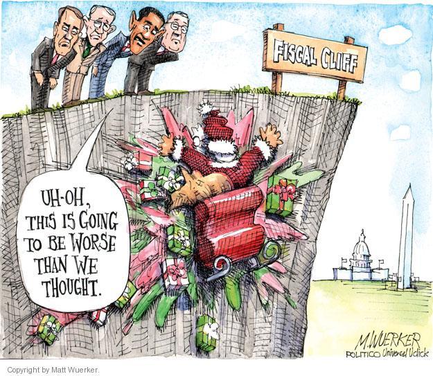 Cartoonist Matt Wuerker  Matt Wuerker's Editorial Cartoons 2012-12-20 John Boehner