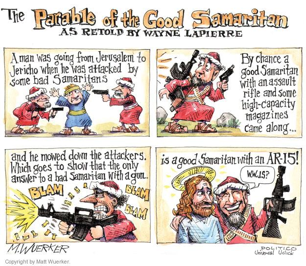Cartoonist Matt Wuerker  Matt Wuerker's Editorial Cartoons 2013-02-08 NRA