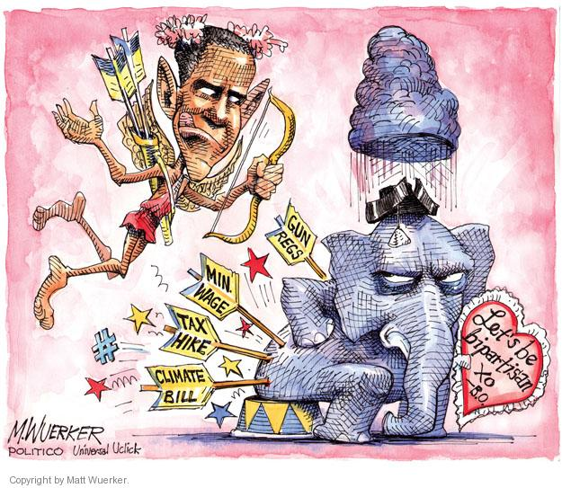 Cartoonist Matt Wuerker  Matt Wuerker's Editorial Cartoons 2013-02-14 Valentine's Day
