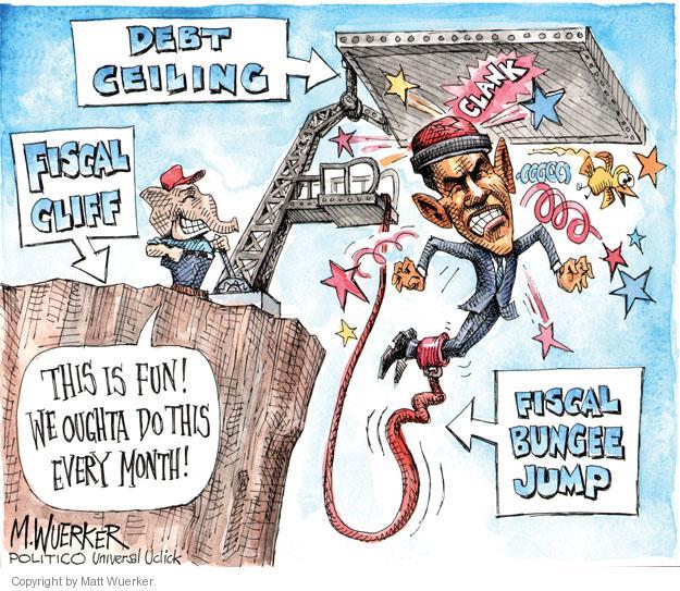 Cartoonist Matt Wuerker  Matt Wuerker's Editorial Cartoons 2013-02-22 debt ceiling