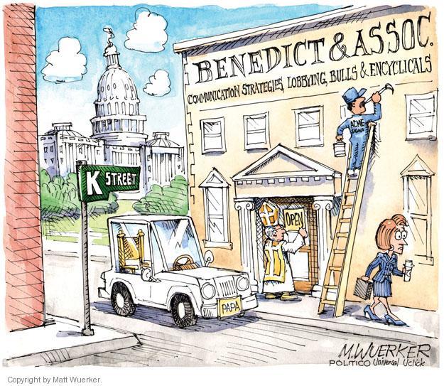 Cartoonist Matt Wuerker  Matt Wuerker's Editorial Cartoons 2013-02-26 religious leader