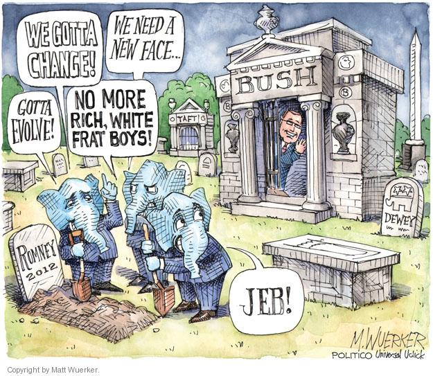 Matt Wuerker  Matt Wuerker's Editorial Cartoons 2013-03-06 Romney Bush