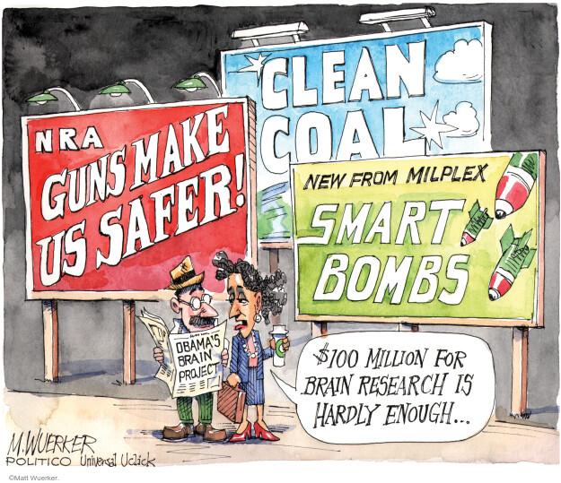 Matt Wuerker  Matt Wuerker's Editorial Cartoons 2013-04-04 assault weapon