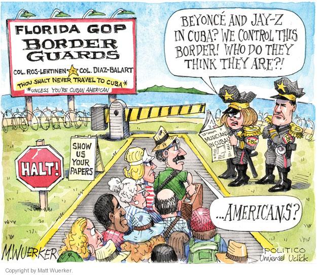 Matt Wuerker  Matt Wuerker's Editorial Cartoons 2013-04-09 Florida
