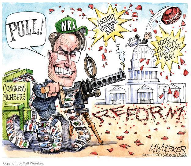 Cartoonist Matt Wuerker  Matt Wuerker's Editorial Cartoons 2013-04-19 gun rights