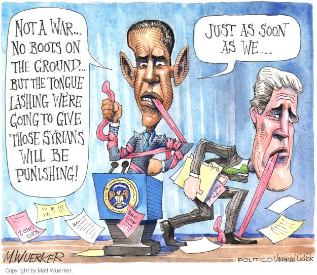 Cartoonist Matt Wuerker  Matt Wuerker's Editorial Cartoons 2013-09-11 boot