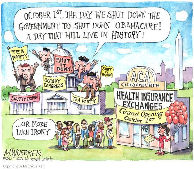 Matt Wuerker  Matt Wuerker's Editorial Cartoons 2013-10-01 political party