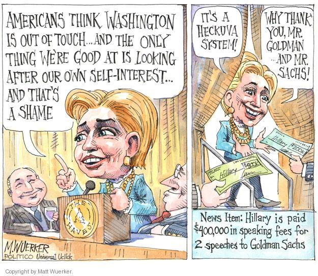 Matt Wuerker  Matt Wuerker's Editorial Cartoons 2013-11-04 cost