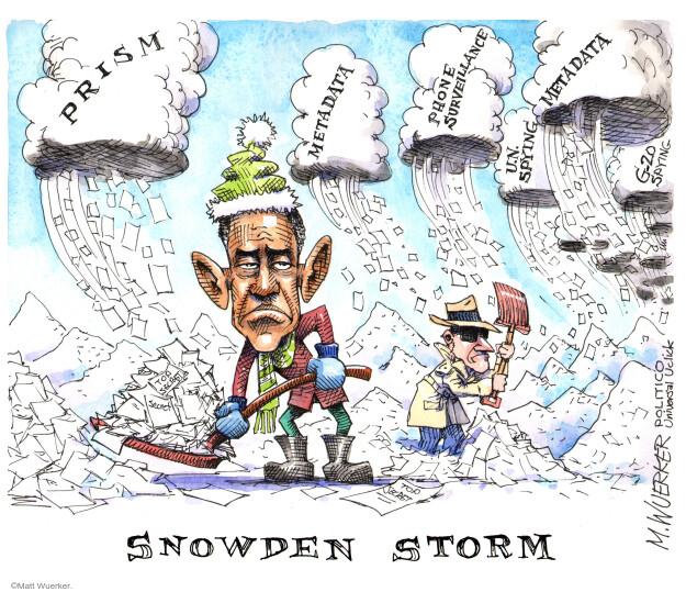 Cartoonist Matt Wuerker  Matt Wuerker's Editorial Cartoons 2013-12-11 government secrecy
