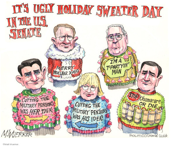 Cartoonist Matt Wuerker  Matt Wuerker's Editorial Cartoons 2013-12-20 senate minority leader