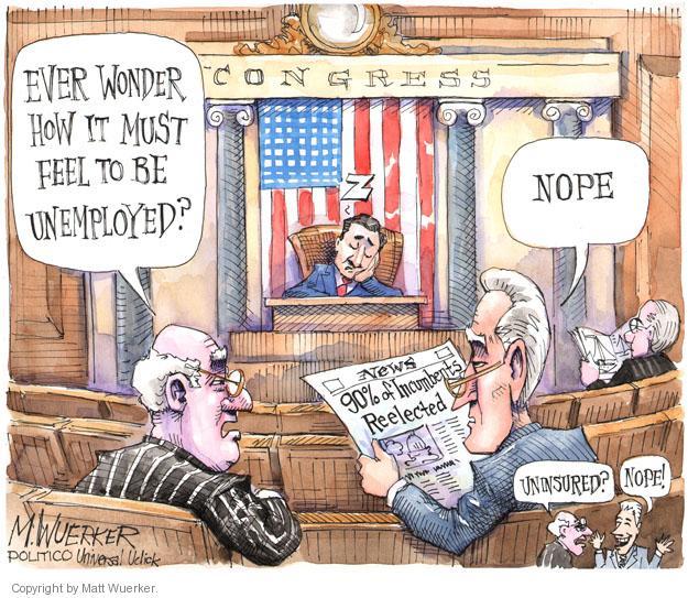 Cartoonist Matt Wuerker  Matt Wuerker's Editorial Cartoons 2014-01-08 congress health care