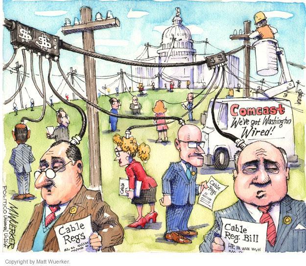 Cartoonist Matt Wuerker  Matt Wuerker's Editorial Cartoons 2014-04-18 cable television