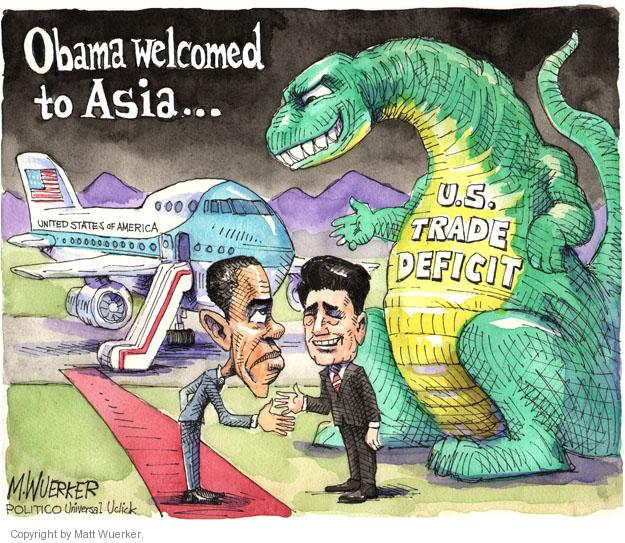Obama welcomed to Asia … United States of America. U.S. Trade Deficit.