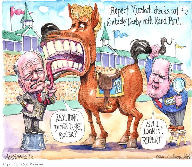 Cartoonist Matt Wuerker  Matt Wuerker's Editorial Cartoons 2014-05-06 2016 election Rand Paul