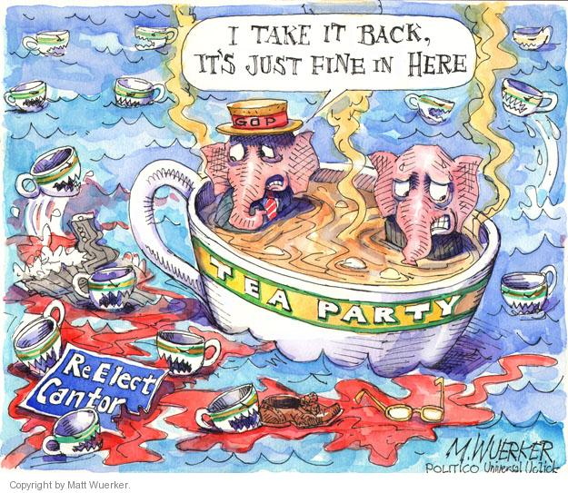 Cartoonist Matt Wuerker  Matt Wuerker's Editorial Cartoons 2014-06-17 tea party