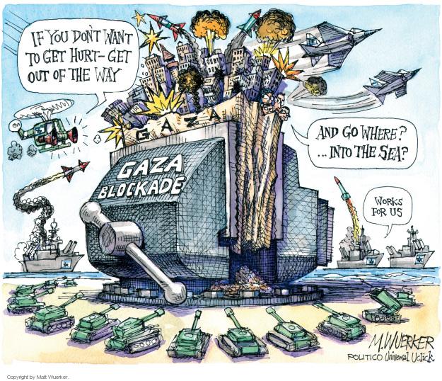 Cartoonist Matt Wuerker  Matt Wuerker's Editorial Cartoons 2014-07-23 conflict