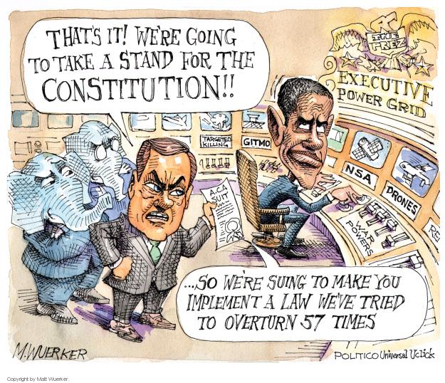 Matt Wuerker  Matt Wuerker's Editorial Cartoons 2014-07-30 Constitution