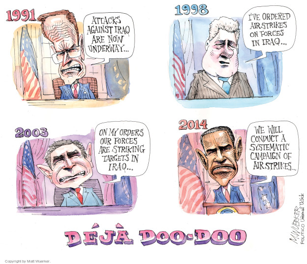 Cartoonist Matt Wuerker  Matt Wuerker's Editorial Cartoons 2014-09-15 George W. Bush