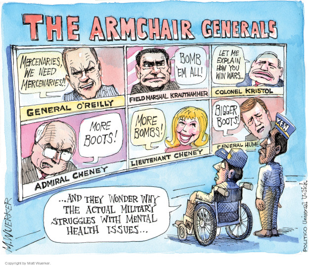Cartoonist Matt Wuerker  Matt Wuerker's Editorial Cartoons 2014-10-06 military mental health