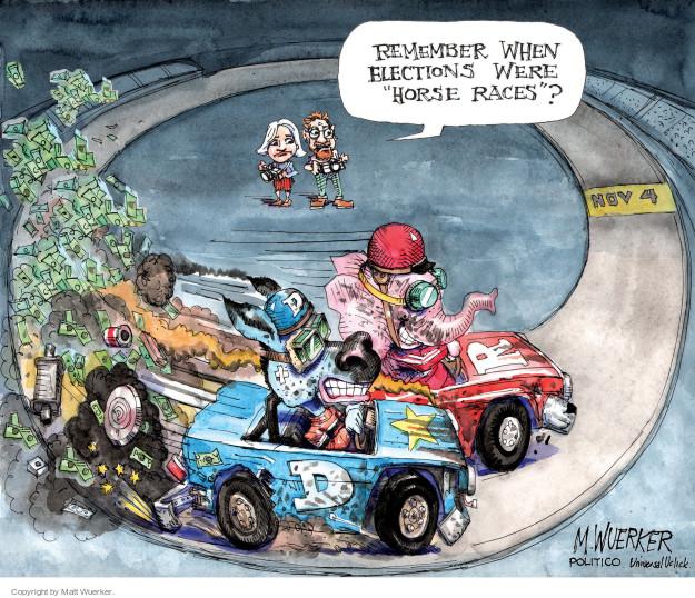 Cartoonist Matt Wuerker  Matt Wuerker's Editorial Cartoons 2014-10-09 race