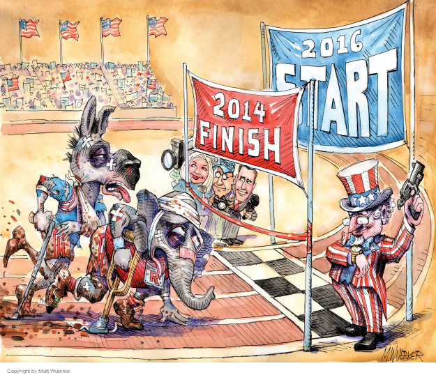 Cartoonist Matt Wuerker  Matt Wuerker's Editorial Cartoons 2014-11-04 race