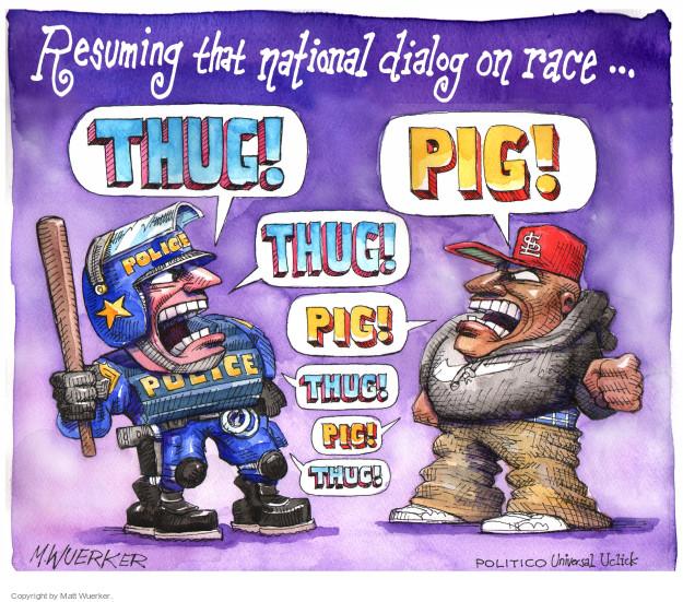 Cartoonist Matt Wuerker  Matt Wuerker's Editorial Cartoons 2014-12-05 race