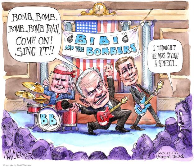 Matt Wuerker  Matt Wuerker's Editorial Cartoons 2015-03-04 United States and Israel
