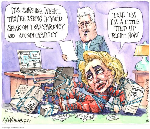 Cartoonist Matt Wuerker  Matt Wuerker's Editorial Cartoons 2015-03-10 accountability