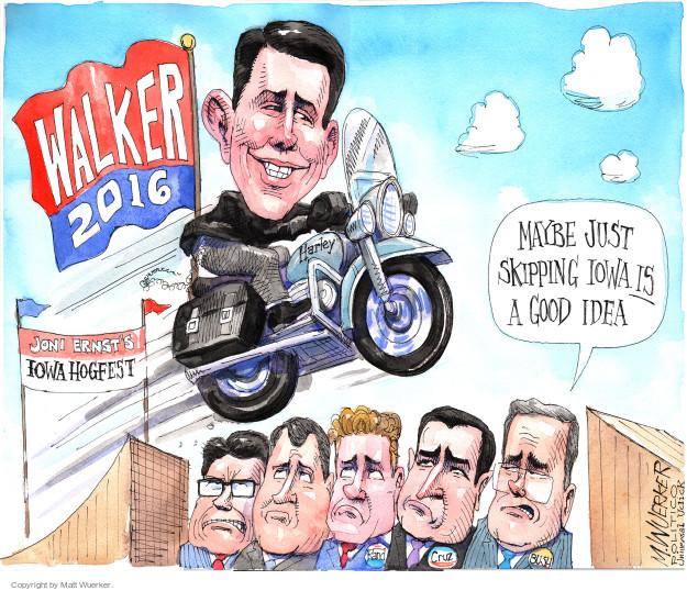 Matt Wuerker  Matt Wuerker's Editorial Cartoons 2015-06-08 2016 election Scott Walker