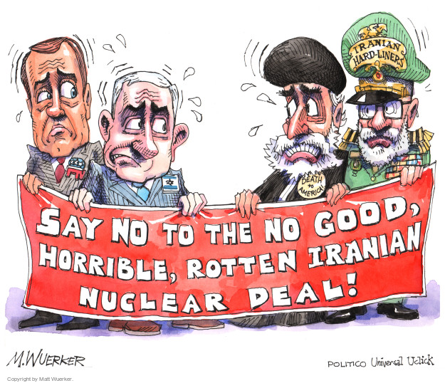 Iranian Hard-Liners. Say not to the no good, horrible, rotten Iranian nuclear deal!